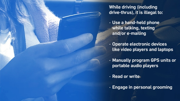 distracted driving alberta