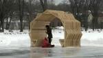 Sudbury architecture students displaying art