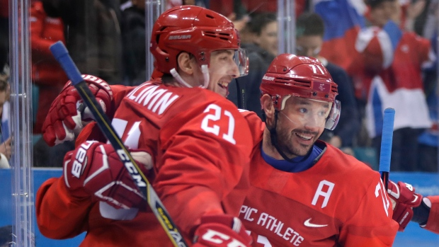 Russians rout USA  4-0 in men's hockey