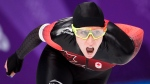 Ivanie Blondin, of Canada, competes in the women's 5000m speedskating finals during the 2018 Olympic Winter Games in Gangneung, South Korea on Friday, February 16, 2018. THE CANADIAN PRESS/Nathan Denette