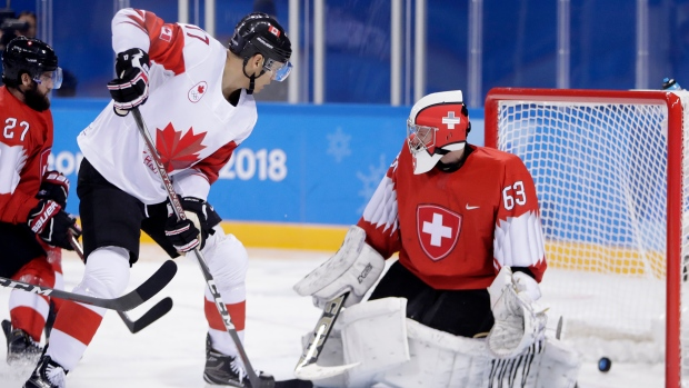 Suter has hat trick as Switzerland blanks South Korea 8-0