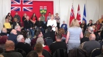 Kathleen Wynne hosts a Town Hall meeting in Windsor on Feb. 15, 2018 (Chris Campball / CTV Windsor)