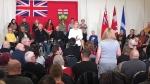 Kathleen Wynne hosts a Town Hall meeting in Windsor on Feb. 15, 2018 (Chris Campball / CTV Windsor)