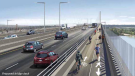 A proposed bridge deck for the Pattullo Bridge replacement as seen in TransLink's public consultation process.