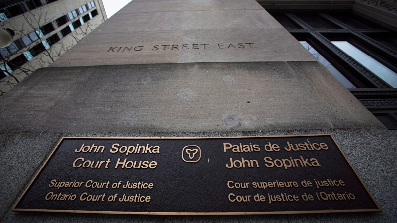 The John Sopinka Courthouse in Hamilton is pictured on Tuesday, February 2, 2016. (THE CANADIAN PRESS / Aaron Lynett)