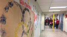 Students at St. Gabe's Elementary hold an Olympics of their own on Feb. 16, 2018. (Michelle Maluske / CTV Windsor)