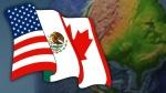 NAFTA flag and globe