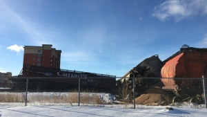 Officials said eight cars went off the track Friday afternoon, and CP rail was investigating.
