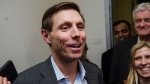 Patrick Brown speaks to media following a meeting at the Conservative Party headquarters in Toronto on Friday, Feb. 16, 2018. (Christopher Katsarov / THE CANADIAN PRESS)