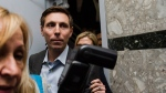 Patrick Brown speaks to media following a meeting at the Conservative Party headquarters in Toronto on Friday, February 16, 2018. THE CANADIAN PRESS/Christopher Katsarov