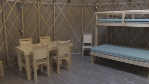 Heated cabins and yurts available for winter rent