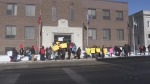 Protesters hope to spark conversation on justice