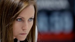 Canada's skip Rachel Homan looks on during a women's curling match against Denmark at the 2018 Winter Olympics in Gangneung, South Korea, Friday, Feb. 16, 2018. THE CANADIAN PRESS/AP-Natacha Pisarenko