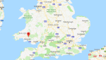 The earthquake's epicenter was about 20 kilometres (12.43 miles) northeast of Swansea. (Google Maps)