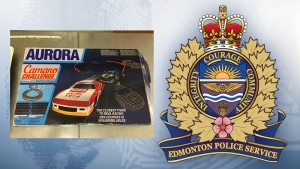 EPS said this vintage toy car is one of several items stolen in Edmonton between Nov. 23 and Jan. 4. (Supplied)