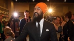 Jagmeet Singh Leader of the NDP shakes hands with delegates as arrives at the NDP convention in Ottawa, Friday, February 16, 2018.THE CANADIAN PRESS/Fred Chartrand