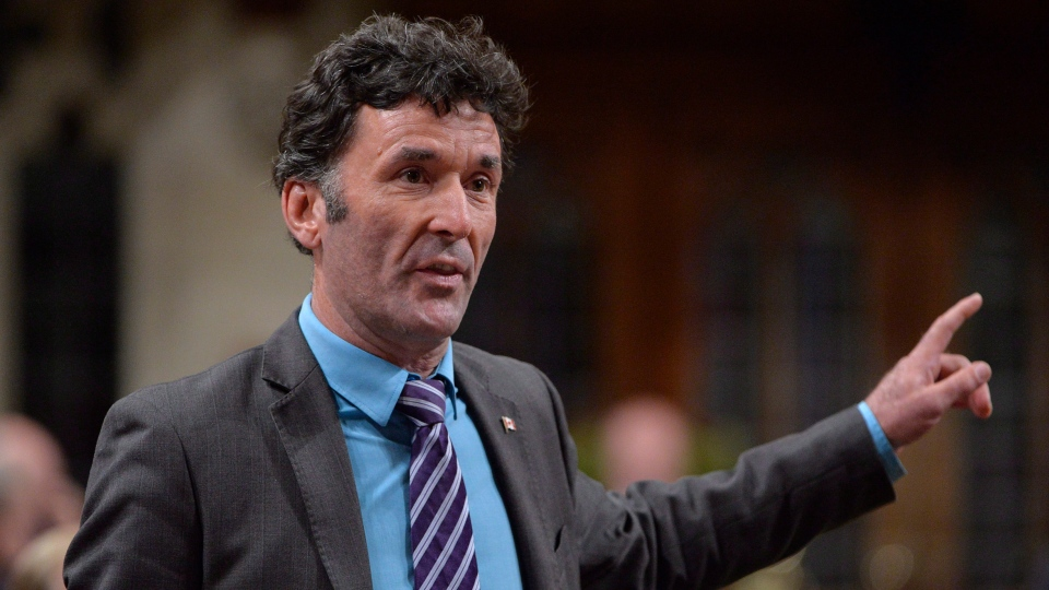 NDP MP Paul Dewar asks a question during Question Period in the House of Commons in Ottawa on September 29, 2014. THE CANADIAN PRESS/Adrian Wyld