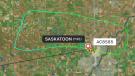 Air Canada Jazz flight returns to Saskatoon. (flightradar24/Twitter)
