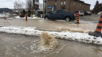 Water main break on Phillip Street in Waterloo. (Feb. 17, 2017)