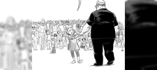 "Vancouver artist Pia Guerra's cartoon ""Hero's Welcome"" shows Florida shooting victim Aaron Feis in this undated handout image. (Pia Guerra/HO/THE CANADIAN PRESS)"