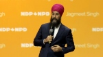 Federal NDP leader Jagmeet Singh addresses convention in Ottawa.