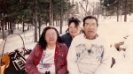 Ina Matawapit, centre, with her parents Edward and Madeline Matawapit, are seen in an undated handout photo. (THE CANADIAN PRESS/HO - Aboriginal Legal Services)