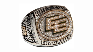 Edmonton Eskimos 2003 Grey Cup ring. (Canadian Football Hall of Fame)