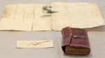Strands of what is allegedly George Washington's hair were discovered in an envelope tucked inside a leather book at Union College.