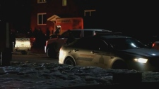 Police were called to the scene of a home invasion on West Lane in Moncton around 1 a.m. Sunday. (Wade Perry)