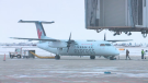 Air Canada Express plane at Saskatoon John G. Diefenbaker International Airport.