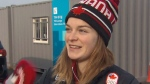 Speed skater Kim Boutin speaks to CTV News' Peter Akman