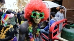 Lebanese take part in the Zambo carnival held in the northern Lebanese city of Tripoli on Sunday, to mark the last period of excess on the eve of the Christian Greek Orthodox lent. (IBRAHIM CHALHOUB / AFP)