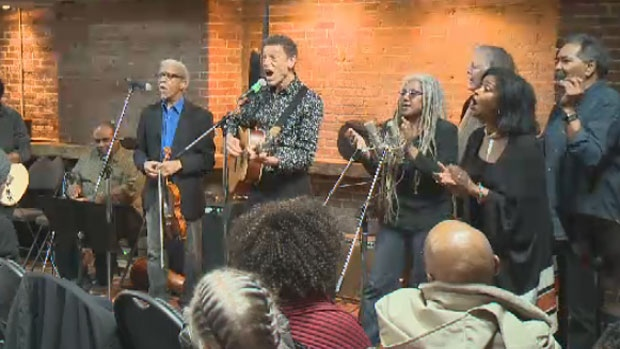 A free concert was held on Sunday to showcase the music and poetry produced over the weekend.
