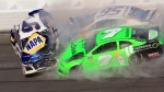 Chase Elliott (9), Kasey Kahne (95) and Danica Patrick (7) crash during the NASCAR Daytona 500 Cup series auto race at Daytona International Speedway in Daytona Beach, Fla., Sunday, Feb. 18, 2018. (AP Photo/Mike Troxell)