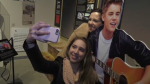 "Fans take ""selfies"" at the Justin Bieber exhibit in Stratford. (Feb. 18, 2018)"