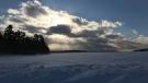 Frozen at Shoal lake. Photo by: Karen Funk