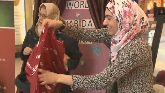 People in Regina tried on a piece of Muslim culture on Sunday at the Southland Mall