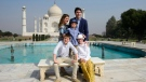Prime Minister Justin Trudeau and wife Sophie Gregoire Trudeau, and children, Xavier, 10, Ella-Grace, 9, and Hadrien, 3, visit the Taj Mahal in Agra, India on Sunday, Feb. 18, 2018. THE CANADIAN PRESS/Sean Kilpatrick