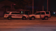 Guelph police say two people were hurt, including an officer, following a pursuit that ended on the Hanlon Expressway.