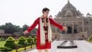 Prime Minister Justin Trudeau visits Swaminarayan Akshardham Temple in Ahmedabad, India on Monday, Feb. 19, 2018. THE CANADIAN PRESS/Sean Kilpatrick