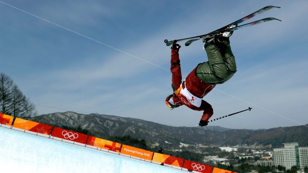 Brita Sigourney of the USA  takes bronze in ski halfpipe