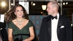 Prince William and Kate, Duchess of Cambridge arrive for the BAFTA 2018 Awards in London, Sunday, Feb. 18, 2018. (Chris Jackson/Pool via AP)