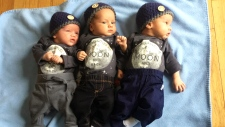 Grandmothers help single mom with triplets