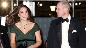 Prince William and Kate, Duchess of Cambridge arrive for the BAFTA 2018 Awards in London, Sunday, Feb. 18, 2018. (Chris Jackson/Pool via AP)