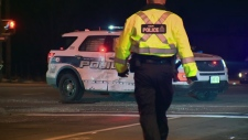 Guelph police cruiser hit