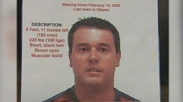 Stephane Parent is seen in this missing persons poster that was issued near the time of McColl's death in 2002.