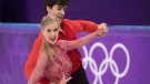 Canada's Kaitlyn Weaver and Andrew Poje perform in the ice dance figure skating short program at the Pyeongchang Winter Olympics on Monday, February 19, 2018 in Gangneung, South Korea. (THE CANADIAN PRESS / Paul Chiasson)