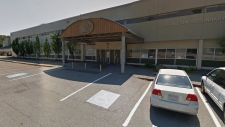 Seaquam Secondary School in Delta, B.C. is seen in this screenshot from Google Maps.
