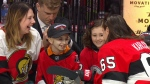 8-yr-old Aiden Verk with 9-yr-old Myla Fransky.
