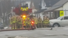 Firefighters were called to 49 Huron Street in Guelph on Monday, Feb. 19, 2018. (Andrew Mac)